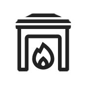 Casa con chimenea